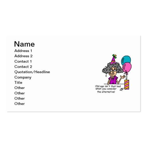Humour alternatif d'anniversaire cartes de visite professionnelles