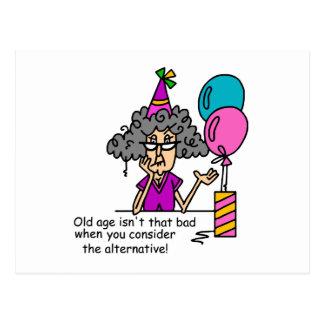 Humour alternatif d'anniversaire carte postale