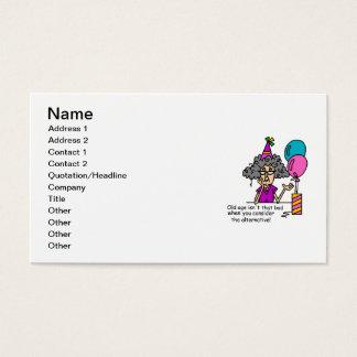 Humour alternatif d'anniversaire cartes de visite