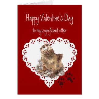 Humour animal de loutre significative de carte de vœux