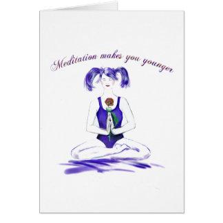 Humour-anniversaire de méditation carte de vœux