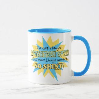 Humour brillant de durée d'attention mug