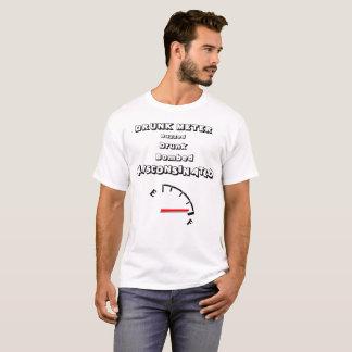 Humour d'alcool de mètre bu par Wisconsin T-shirt