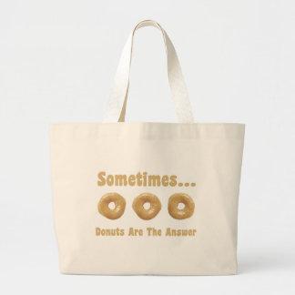 Humour de beignet sac en toile jumbo