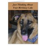 Humour de chien de Pavlov de gâteau d'anniversaire Cartes
