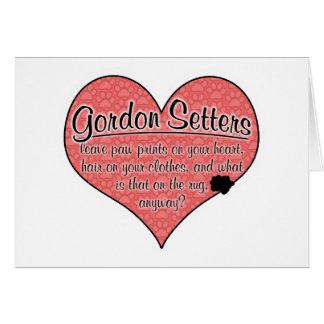 Humour de chien d'empreintes de pattes de poseur carte de vœux