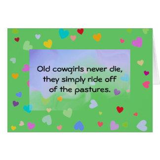 humour de cow-girls carte de vœux