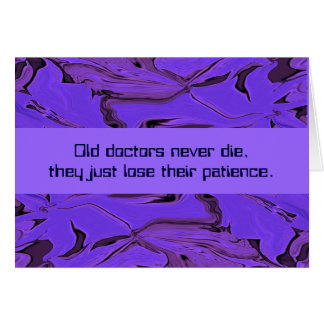 humour de docteur carte de vœux