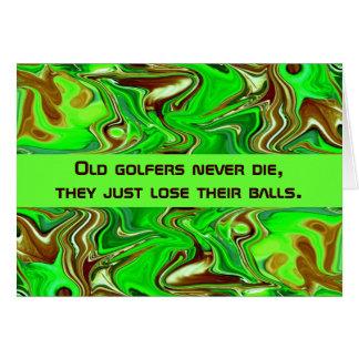 humour de golfeurs cartes de vœux