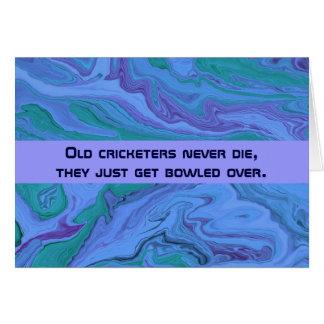 humour de joueurs de cricket cartes