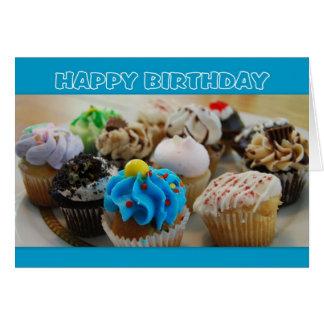 Humour de joyeux anniversaire de petits gâteaux carte de vœux
