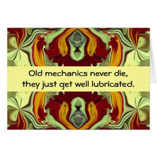 humour de mécanique cartes de vœux