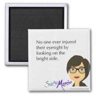 Humour de positivité magnet carré