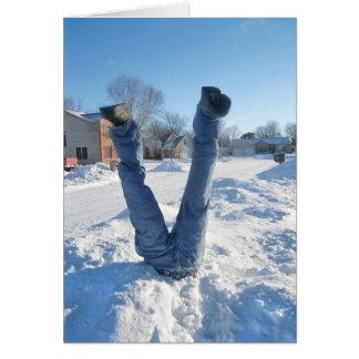 Humour de saison d'hiver cartes
