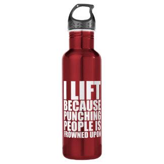 Humour de séance d'entraînement - je soulève le bouteille d'eau en acier inoxydable