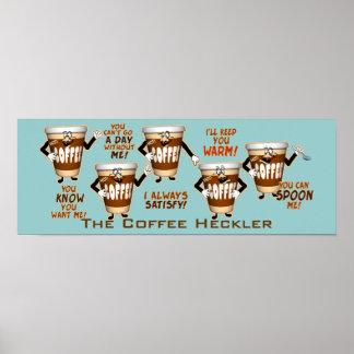 Humour d'élément perturbateur de café poster
