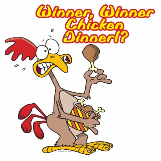 humour d'ironie de dîner de poulet de gagnant de g photo sculpture
