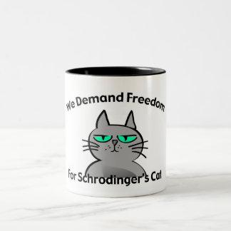 Humour drôle de geek du chat de Schrodinger Mug Bicolore