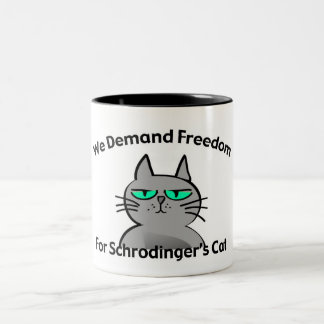 Humour drôle de geek du chat de Schrodinger Tasse 2 Couleurs