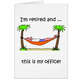 Humour drôle de retraite carte de vœux