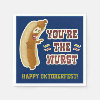 Humour drôle d'Oktoberfest de bratwurst de Wurst Serviette Jetable