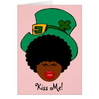 Humour du jour de St Patrick : Embrassez-moi. Je Carte De Vœux