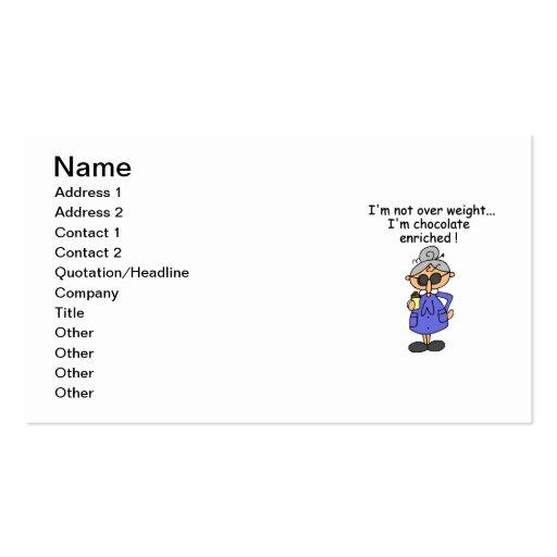 Humour enrichi par chocolat modèles de cartes de visite