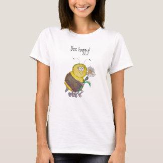 Humour lunatique drôle heureux de T-shirt