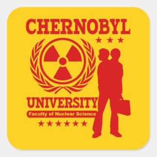 Humour nucléaire de geek de la Science Sticker Carré