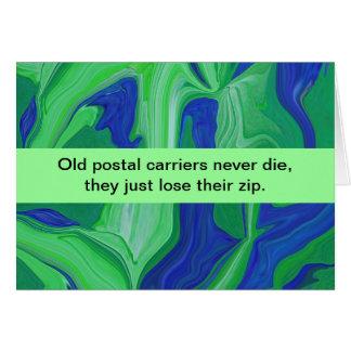humour postal de transporteurs cartes de vœux