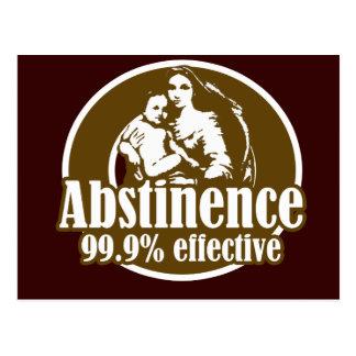 Humour religieux efficace de l'abstinence 99% carte postale