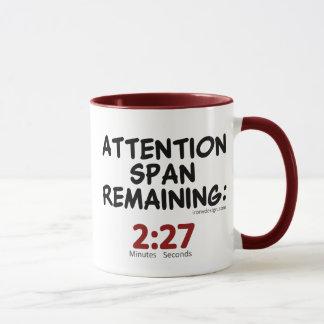 Humour restant de durée d'attention mug