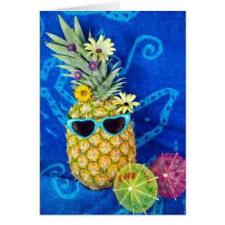Humour tropical d'ananas carte de vœux