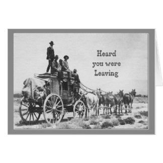 Humour vintage de diligence de retraite heureuse carte de vœux