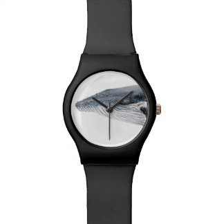 Humpback whale black watch montres bracelet