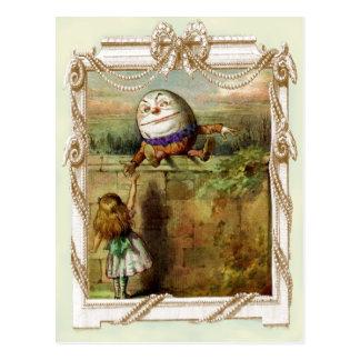 Humpty Dumpty et Alice Carte Postale