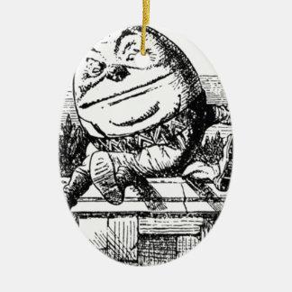 Humpty Dumpty Ornement Ovale En Céramique