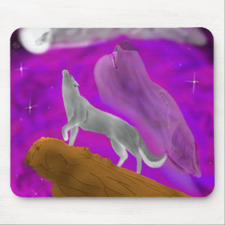 Hurlement à la lune tapis de souris