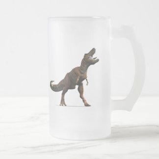 Hurlement de T-rex Frosted Glass Beer Mug