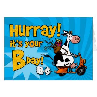Hurray c est votre anniversaire carte de vœux
