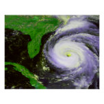 Hurrican Fran outre de la Floride - image de 1996  Poster