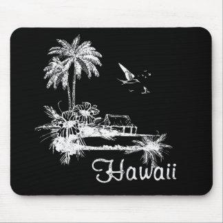 Hutte de plage d'Hawaï Tapis De Souris