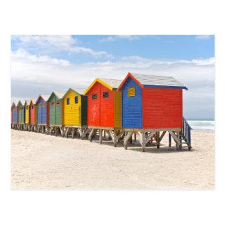 Huttes de plage carte postale