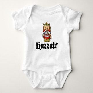 HUZZAH ! T-shirt de combinaison de bébé du Roi