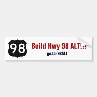 Hwy 98 alt autocollant pour voiture