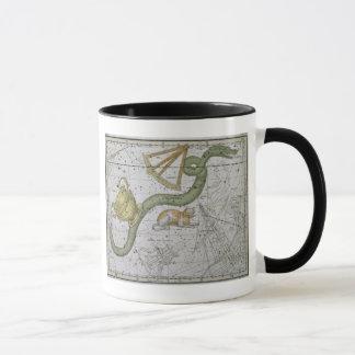"""Hydre, """"d'un atlas céleste"""", pub. en 1822 (col mug"""