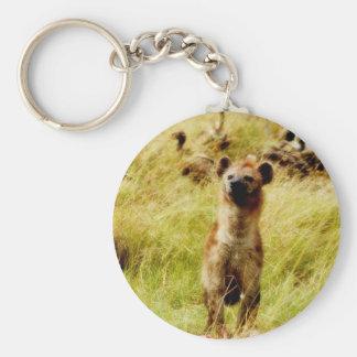 Hyène avec le support de porte - clé de gnou porte-clé rond