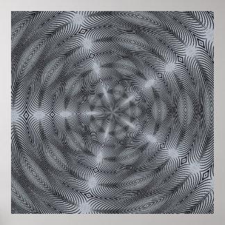 Hypnose argentée affiches
