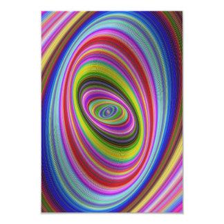 Hypnose colorée carton d'invitation 8,89 cm x 12,70 cm