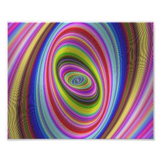 Hypnose colorée impression photo